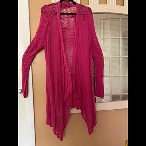 Lane Bryant pink cotton shrug cardigan!!